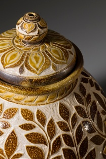 Passiflora Storage Jar Detail
