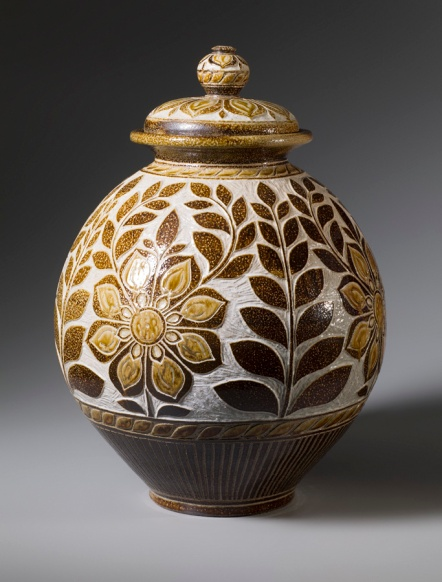 Passiflora Storage Jar Side