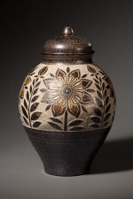 Passion Flower Storage Jar