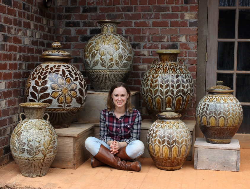 Kate Johnston and her large vessels.